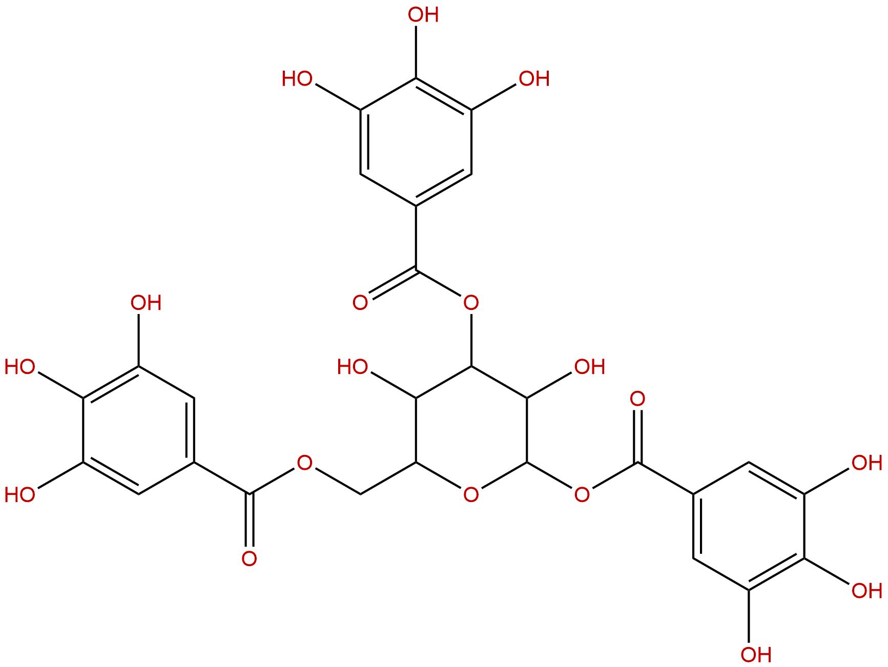 1,3,6-Tri-O-galloyl-beta-D-glucose