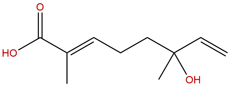 6-Hydroxy-2,6-dimethyl-2,7-octadienoic acid